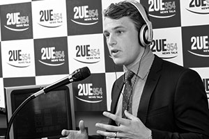 Jayden Pendleton of Jacaranda FP on 2UE954 radio.